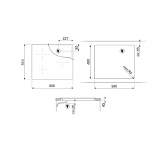 Варочная панель SMEG SI7643B