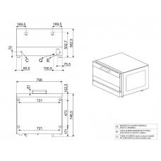 Конвекционная печь SMEG ALFA410-2