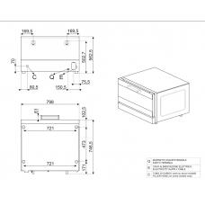 Конвекционная печь SMEG ALFA420MFH-2