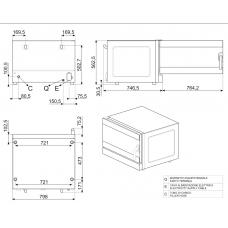 Конвекционная печь SMEG ALFA425H-2