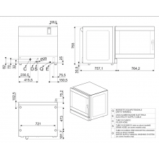 Конвекционная печь SMEG ALFA625EH