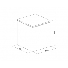 Морозильная камера SMEG CO103F