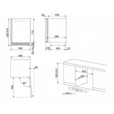 Винный шкаф SMEG CVI338RX3
