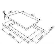 Варочная панель SMEG SE70SGH-5