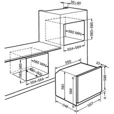 Духовой шкаф SMEG SF6905X1