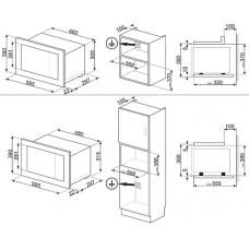 Микроволновая печь SMEG FMI120B