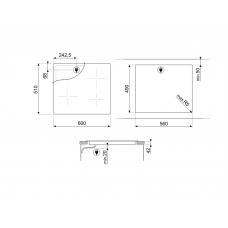 Варочная панель SMEG SE364ETB