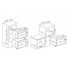 Микроволновая печь SMEG SF4101MS