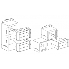 Духовой шкаф SMEG SF4390VCX1