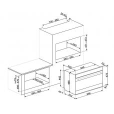 Духовой шкаф SMEG SFPR9604NX