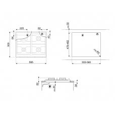 Варочная панель SMEG SRV864RAGH
