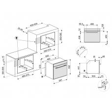 Духовой шкаф SMEG SF6101TVB1