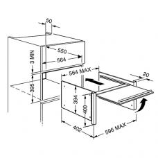 Дверца для микроволновых печей SMEG PMO800B-8
