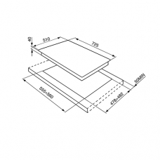 Варочная панель SMEG P1752X