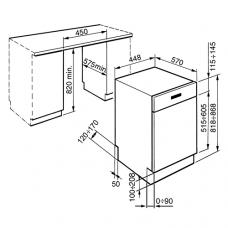 Посудомоечная машина SMEG PLA4525X