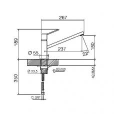 Смеситель SMEG MFQ7-IS2