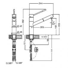 Смеситель SMEG MD12-CR